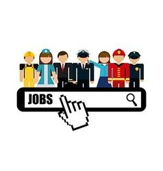 Jobs concept design vector