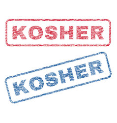 Kosher textile stamps vector