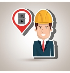 man and oil isolated icon design vector image vector image