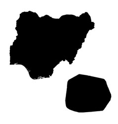 Map nigeria and abuja country and capital vector