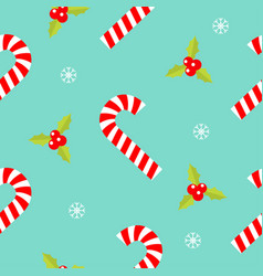 merry christmas seamless pattern candy cane red vector image