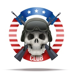 Military club or company badges and labels logo vector image