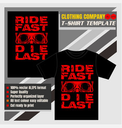 mock up clothing company t-shirt vector image