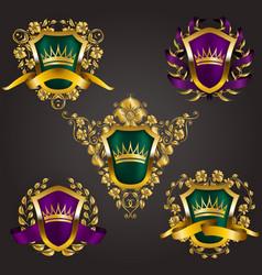 Monogram logos set vector