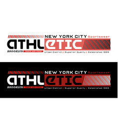New york athletic sport typography design vector