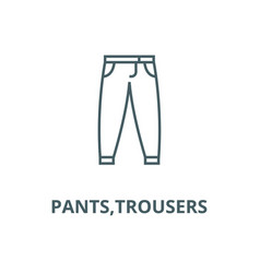 pantstrousers line icon linear concept vector image