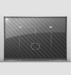 partition with glass door vector image