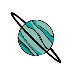 planet uranus astronomy universe icon vector image
