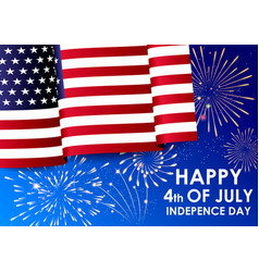 realistic waving american national flag vector image