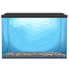 Rectangular glass aquarium vector