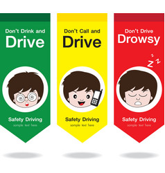 Safety drive flag vector
