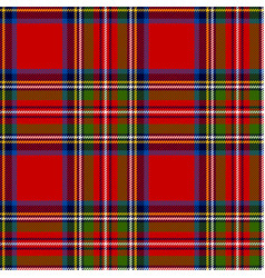scottish plaid royal stewart tartan vector image