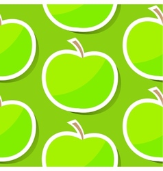 Seamless background with apple vector