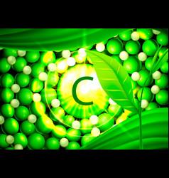 serum vitamin c organic components medical oil vector image