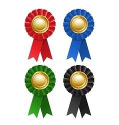 Set award rosette vector