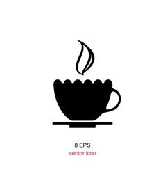 Simple coffee icon isolated on white background vector image