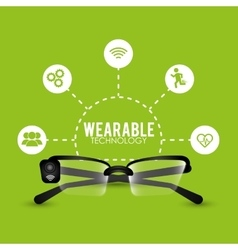 Smart glasses wearable technology cyber vector