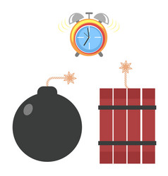 Start a bomb from tnt time with digital display vector