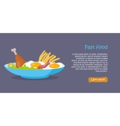 Tasty Fast Food Banner vector