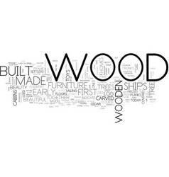 The beauty of wood text background word cloud vector