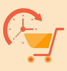 Time for shopping vector