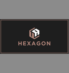 ua hexagon logo design inspiration vector image