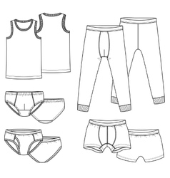 Underpants briefs shirt vector image