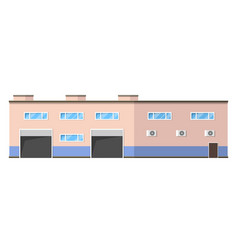 Warehouse logistics building vector