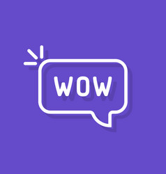 wow word in speech bubble vector image