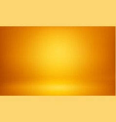 Yellow studio 3d room lightbox light background vector