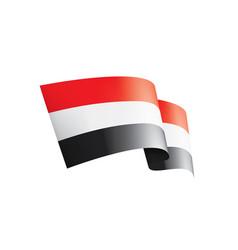 yemeni flag on a white vector image