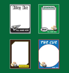 Billiards Cards vector image