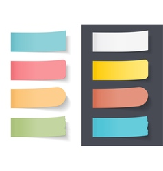 Colored Sticky Papers vector image