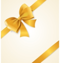 Gold Satin Ribbon vector image vector image