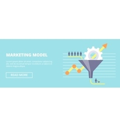 Marketing Model horizontal banner with sales vector image