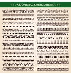 Ornamental Border Frame Patterns vector image