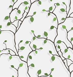 Seamless tree vector image vector image