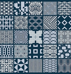 Set of endless geometric patterns composed with vector image vector image