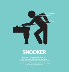 Snooker Player vector image vector image