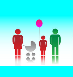 The family and kids vector image