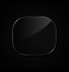 transparency glass frame vector image vector image