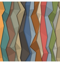 3d colorful paper background origami style vector image vector image