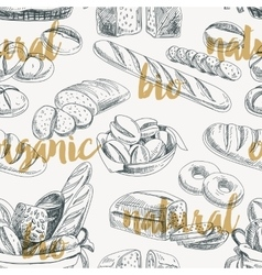 bread retro seamless pattern vector image vector image