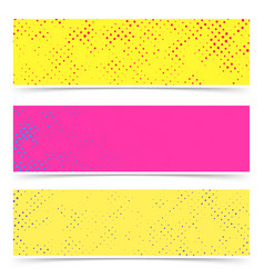 bright empty colorful dotted abstract pop art vector image vector image