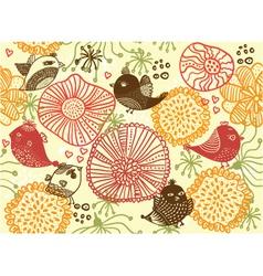 garden sketch vector image