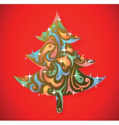 Art decorative Christmas vector image