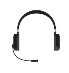 black headphones with vector image
