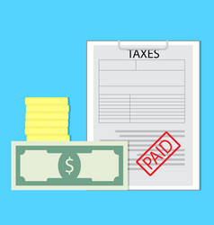 paid taxes vector image vector image