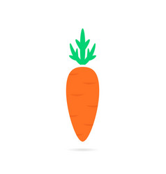 simple carrot logo with shadow vector image