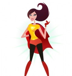 super woman hero vector image